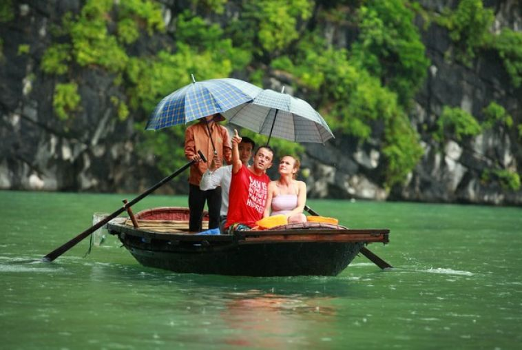Bamboo boat trip