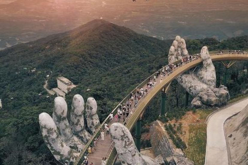 Da Nang: Hand Of The Gods Hold Vietnam'S Golden Bridge